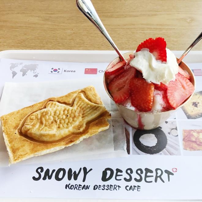 snowy dessert